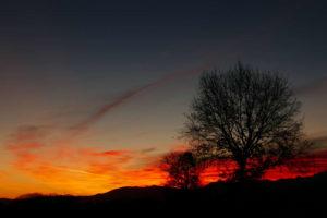 bellissima alba stamattina