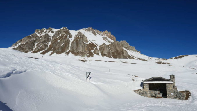 cappella della Bandia,la madonna spunta dalla neve