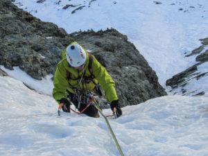 Uscita su ghiaccio più abbattuto dopo il muretto a 75°