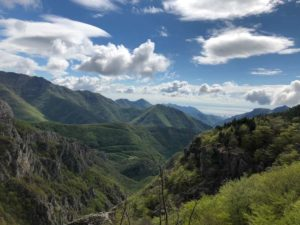 Panorama verso la piana d'Albenga