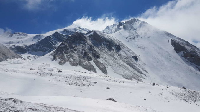 Monte Cervet 2984 mt e il monte Boulliagna 2908 mt